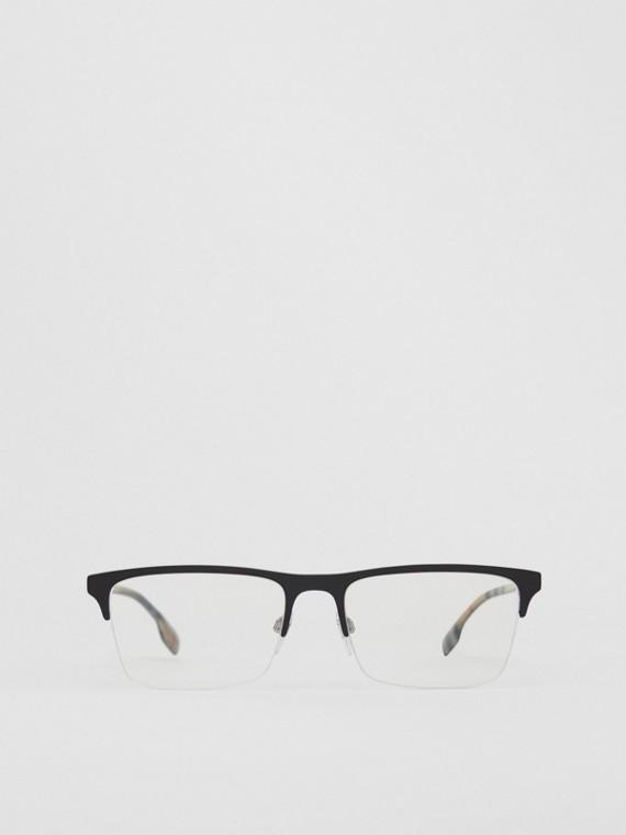 Monture rectangulaire pour lunettes de vue (Noir Mat)