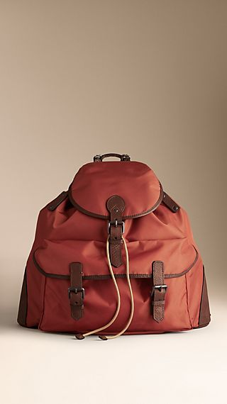 Leather Trim Backpack