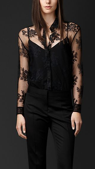 Embroidered Lace Shirt