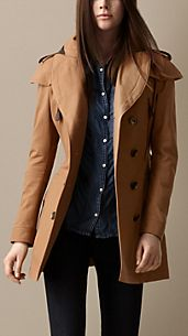 Short Cape Detail Trench Coat