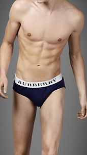 Logo Waistband Stretch Briefs