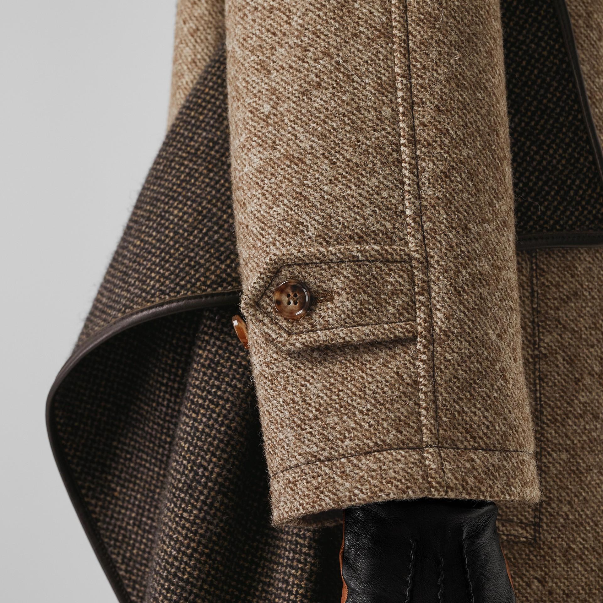 Paletot en laine et mohair avec écharpe (Brun Noisette Foncé) - Femme | Burberry Canada - photo de la galerie 4