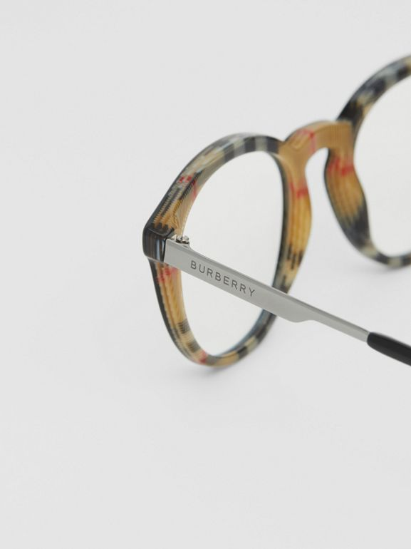Round Optical Frames in Black/beige - Men | Burberry - cell image 1
