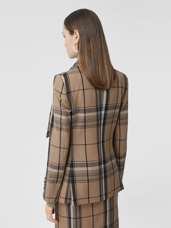Knot Detail Check Wool Tailored Jacket - Women   Burberry United Kingdom - cell image 2