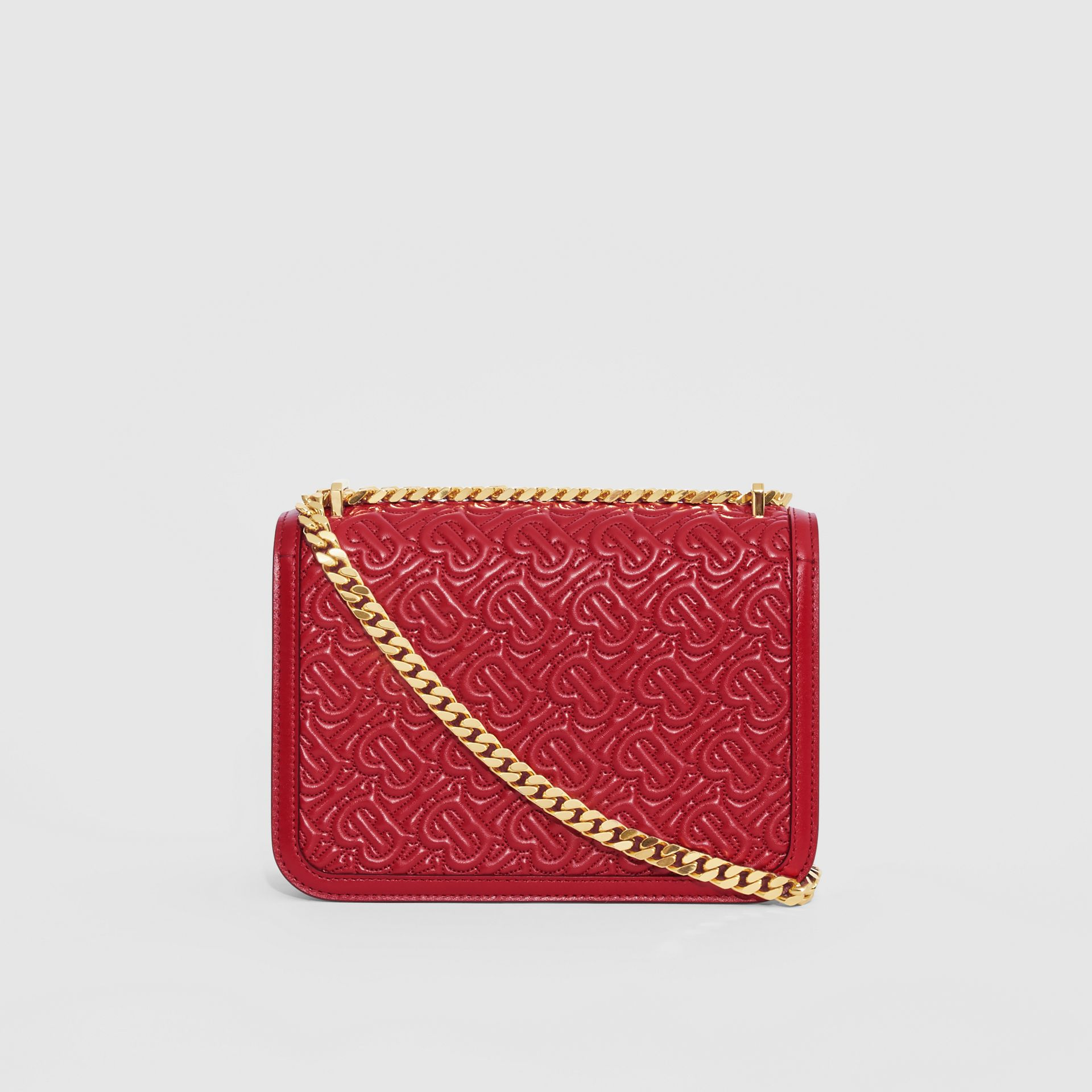 Small Quilted Monogram Lambskin TB Bag in Dark Carmine - Women | Burberry Hong Kong S.A.R. - gallery image 7