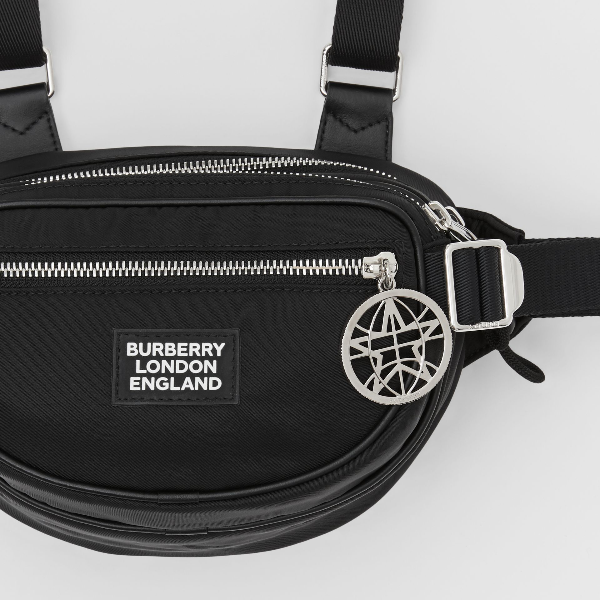 Logo Appliqué ECONYL® Cannon Belt Pack in Black | Burberry Canada - gallery image 11