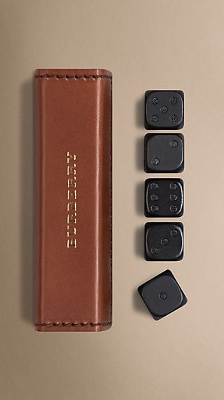 Sartorial Leather Dice Set With Case