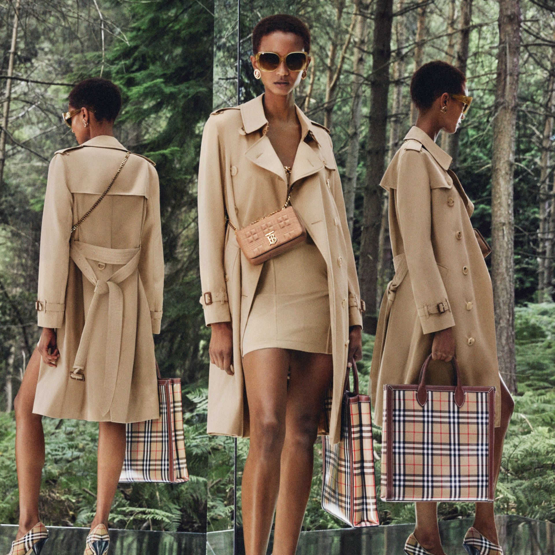The Mid-length Kensington Heritage Trench Coat in Honey - Women | Burberry Hong Kong S.A.R. - gallery image 9