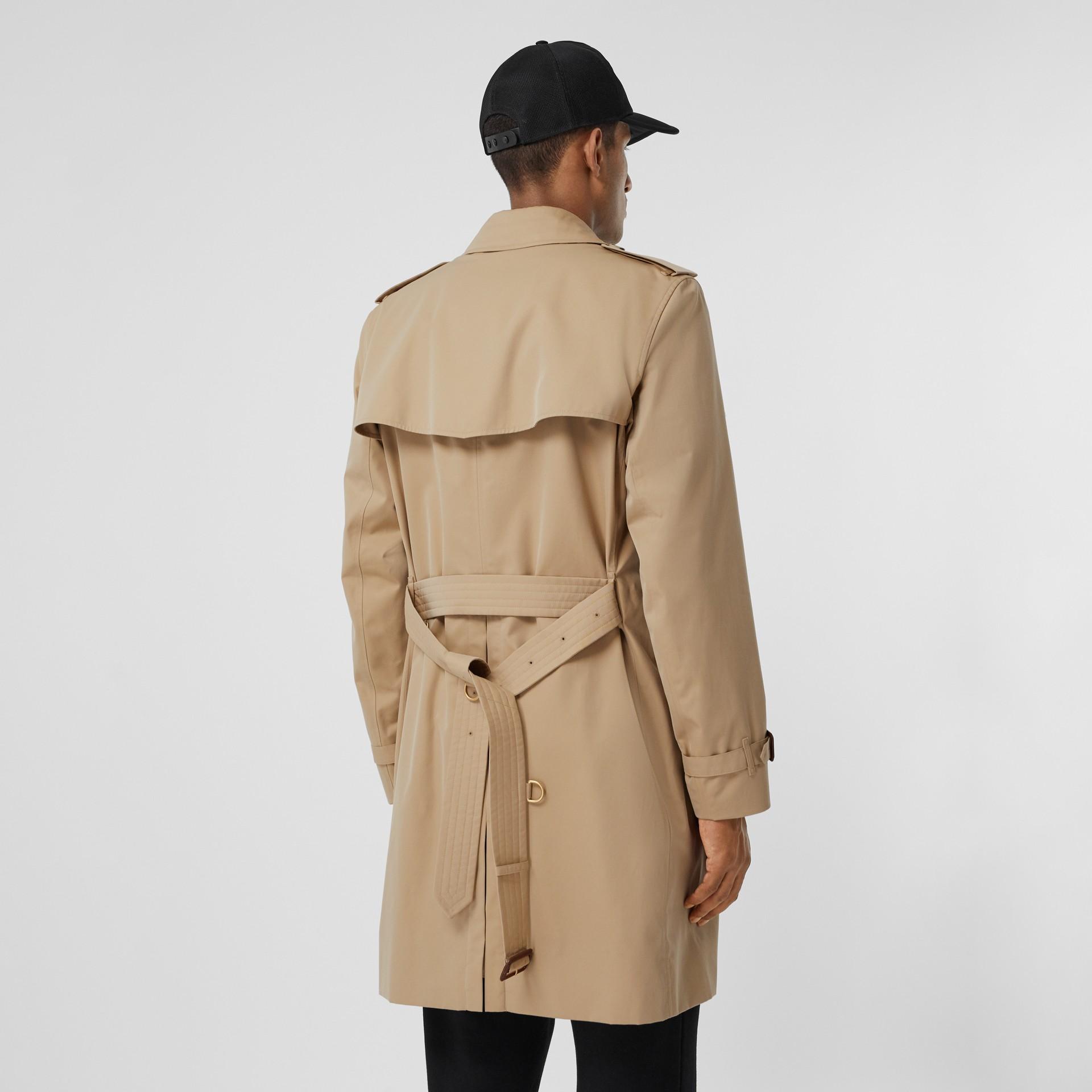 The Mid-length Kensington Heritage Trench Coat in Honey - Men   Burberry - gallery image 2