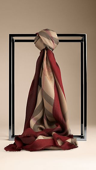 Metallic Haymarket Check Contrast Border Scarf