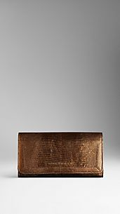 Lizard Leather Continental Wallet