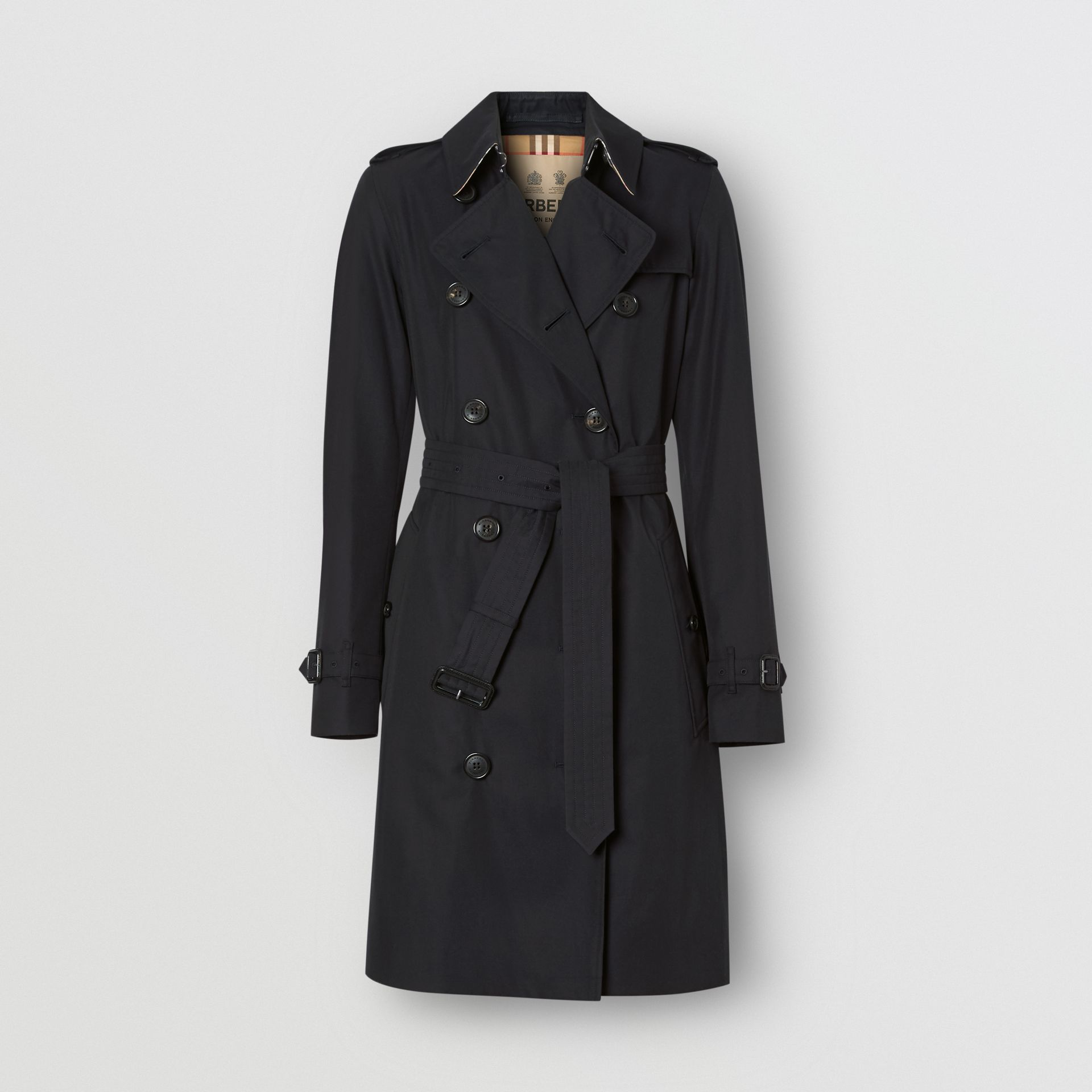 The Mid-length Kensington Heritage Trench Coat in Midnight | Burberry - gallery image 3