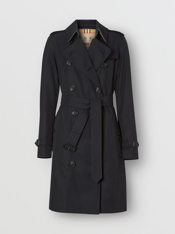 The Mid-length Kensington Heritage Trench Coat in Midnight | Burberry - cell image 3