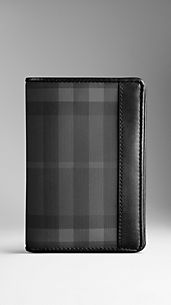 Charcoal Check Passport Holder