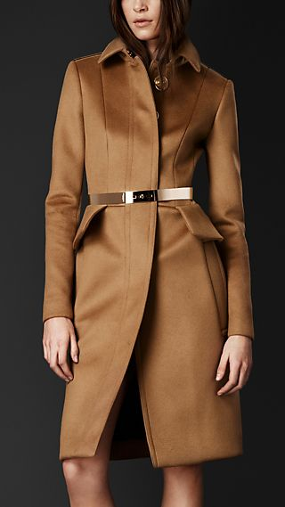 Tailored Peplum Coat