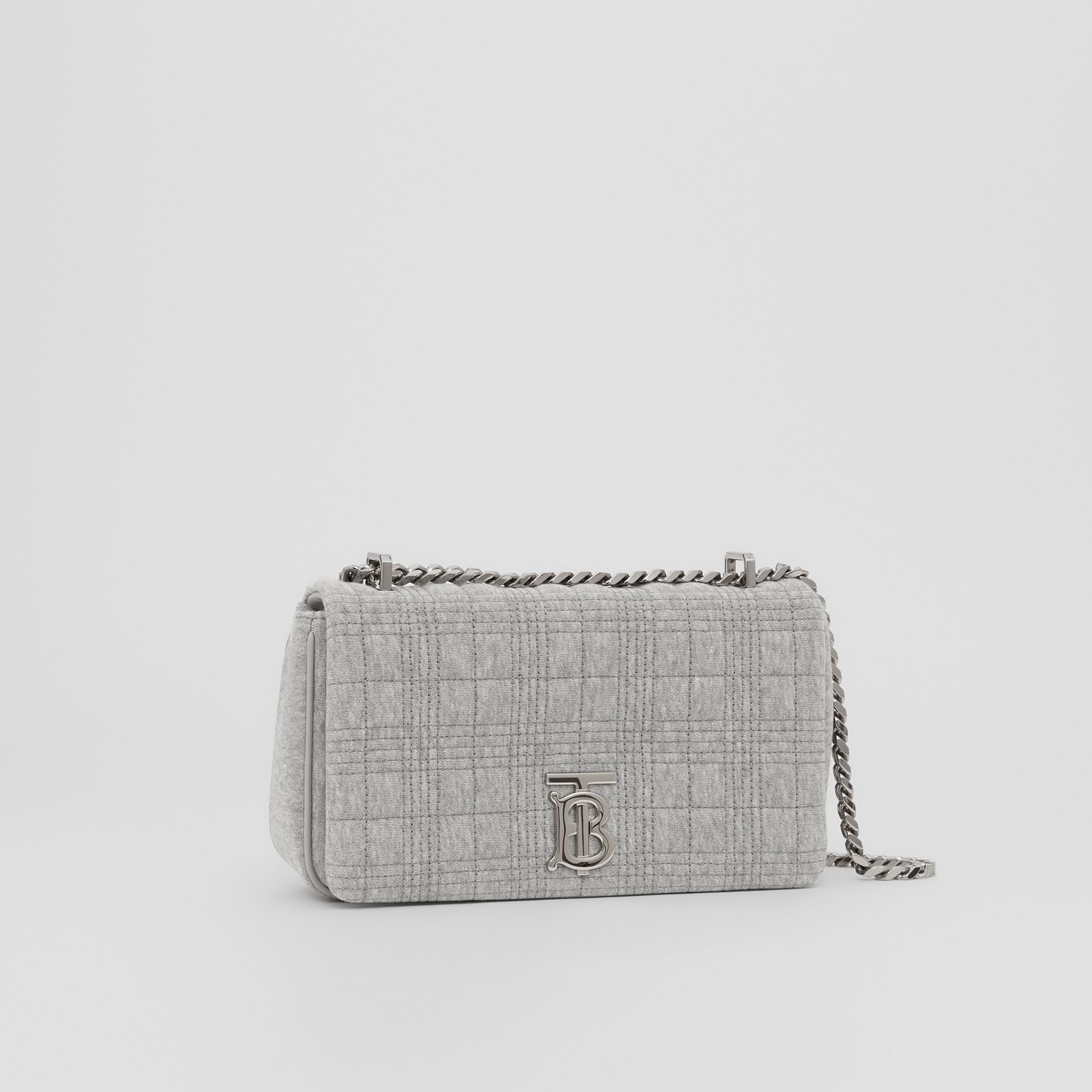 Small Quilted Jersey Lola Bag in Grey Taupe Melange | Burberry Hong Kong S.A.R. - gallery image 1