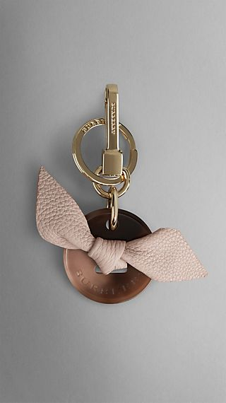 Knot-Detail Button Key Charm