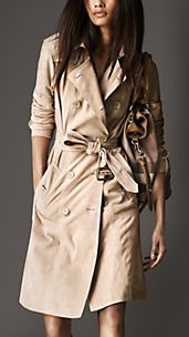 Lambskin Suede Trench Coat