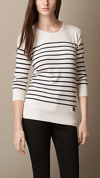 Breton Stripe Cashmere Blend Sweater