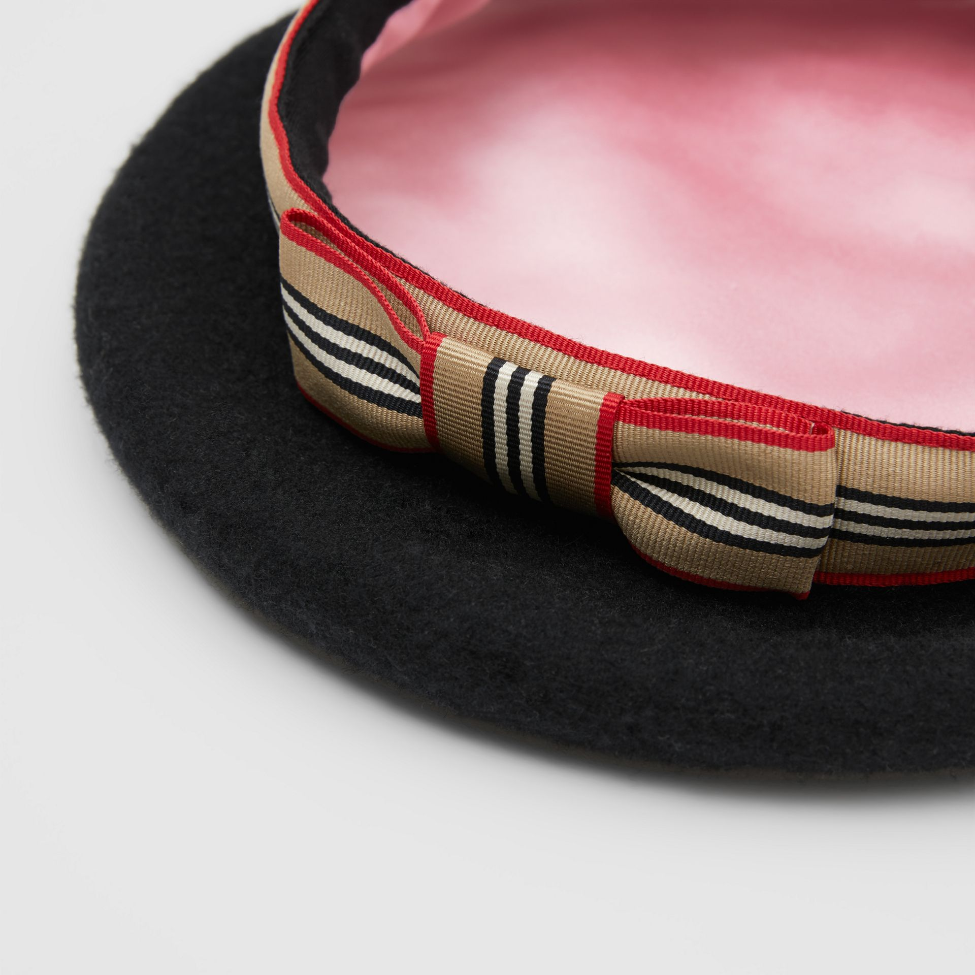 Icon Stripe Bow Wool Blend Beret - Children | Burberry United Kingdom - gallery image 5