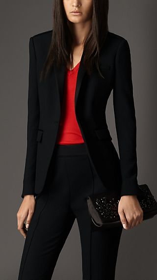 Silk Detail Tailored Jacket