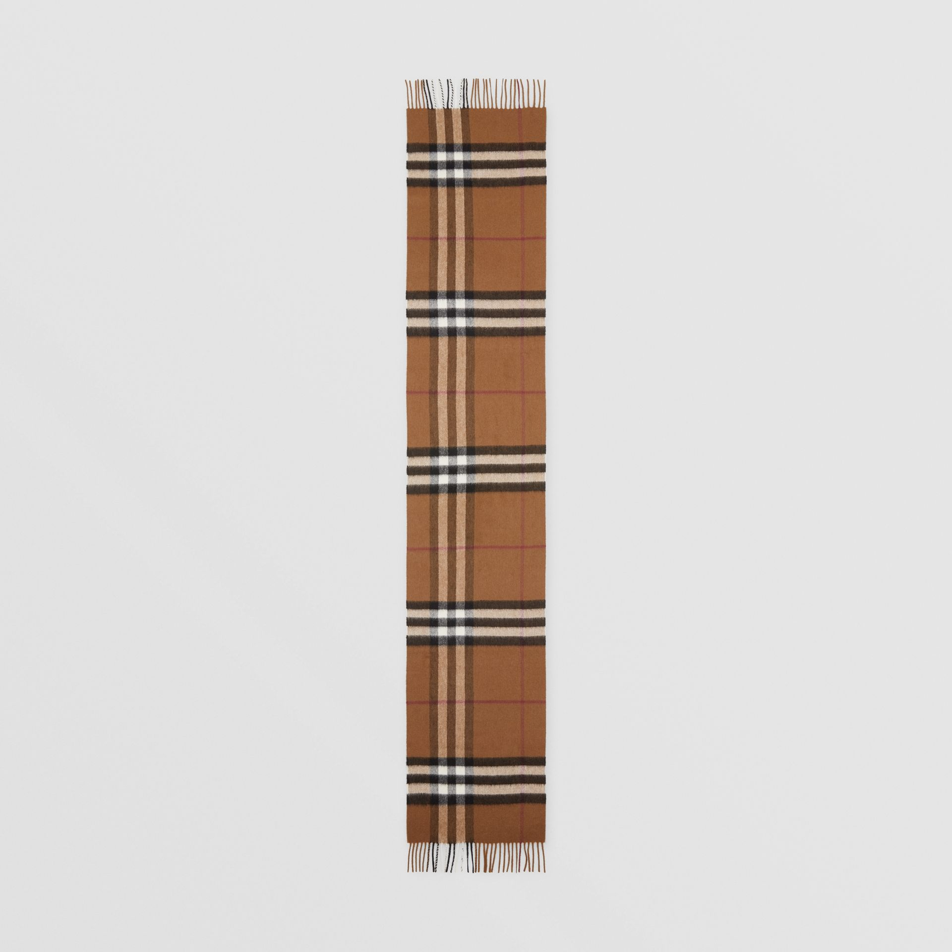 The Classic Check Cashmere Scarf in Birch Brown | Burberry United Kingdom - gallery image 5