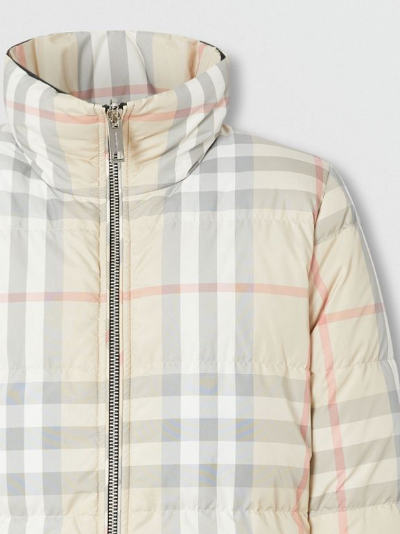 Reversible Check Puffer Jacket in Black - Women | Burberry - cell image 1