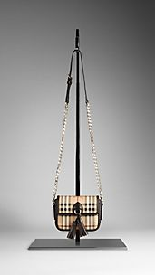 Haymarket Check Tassel Crossbody Bag