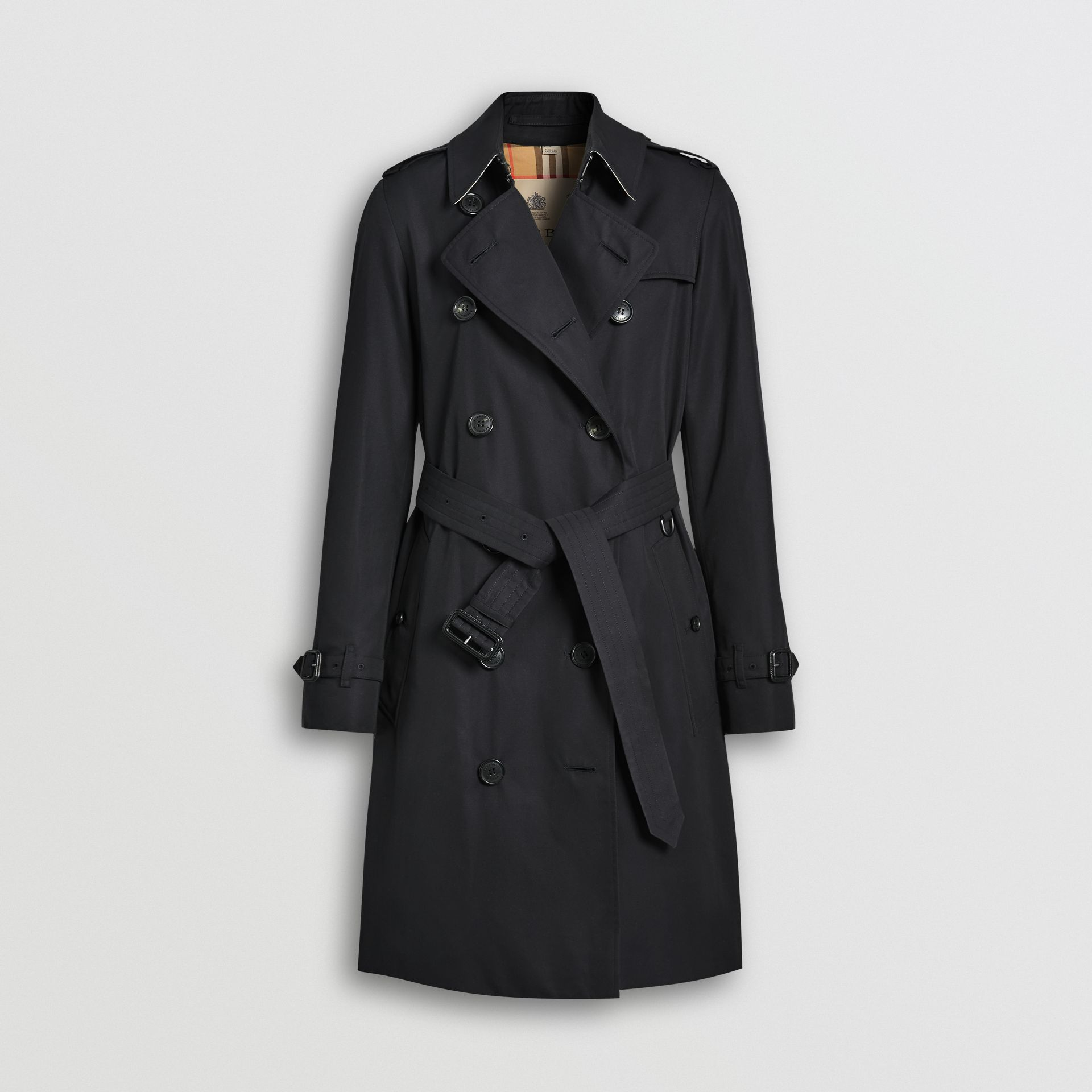 The Mid-length Kensington Heritage Trench Coat in Midnight - Women | Burberry - gallery image 3