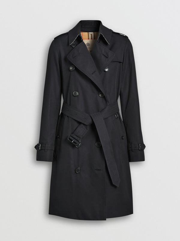 The Mid-length Kensington Heritage Trench Coat in Midnight - Women | Burberry - cell image 3