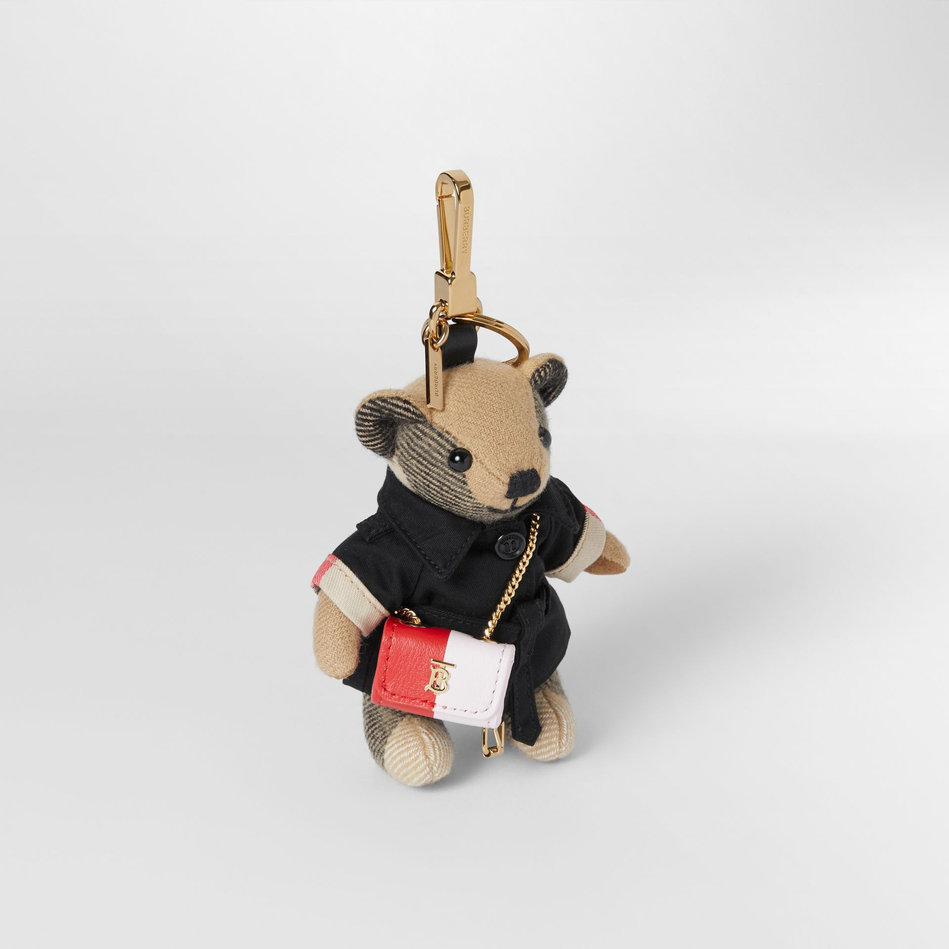 Thomas Bear Charm with Lola Bag in Archive Beige - Women | Burberry Australia - gallery image 0