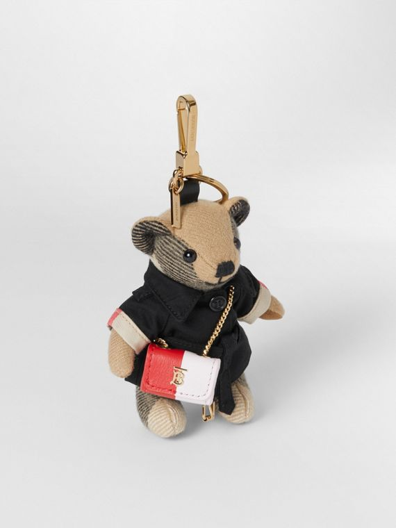 Thomas Bear Charm with Lola Bag in Archive Beige