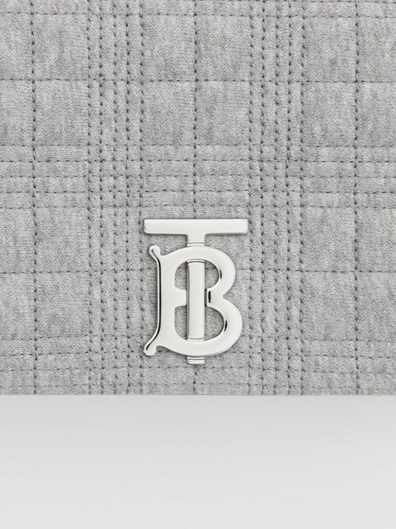 Small Quilted Jersey Lola Bag in Grey Taupe Melange | Burberry United Kingdom - cell image 1
