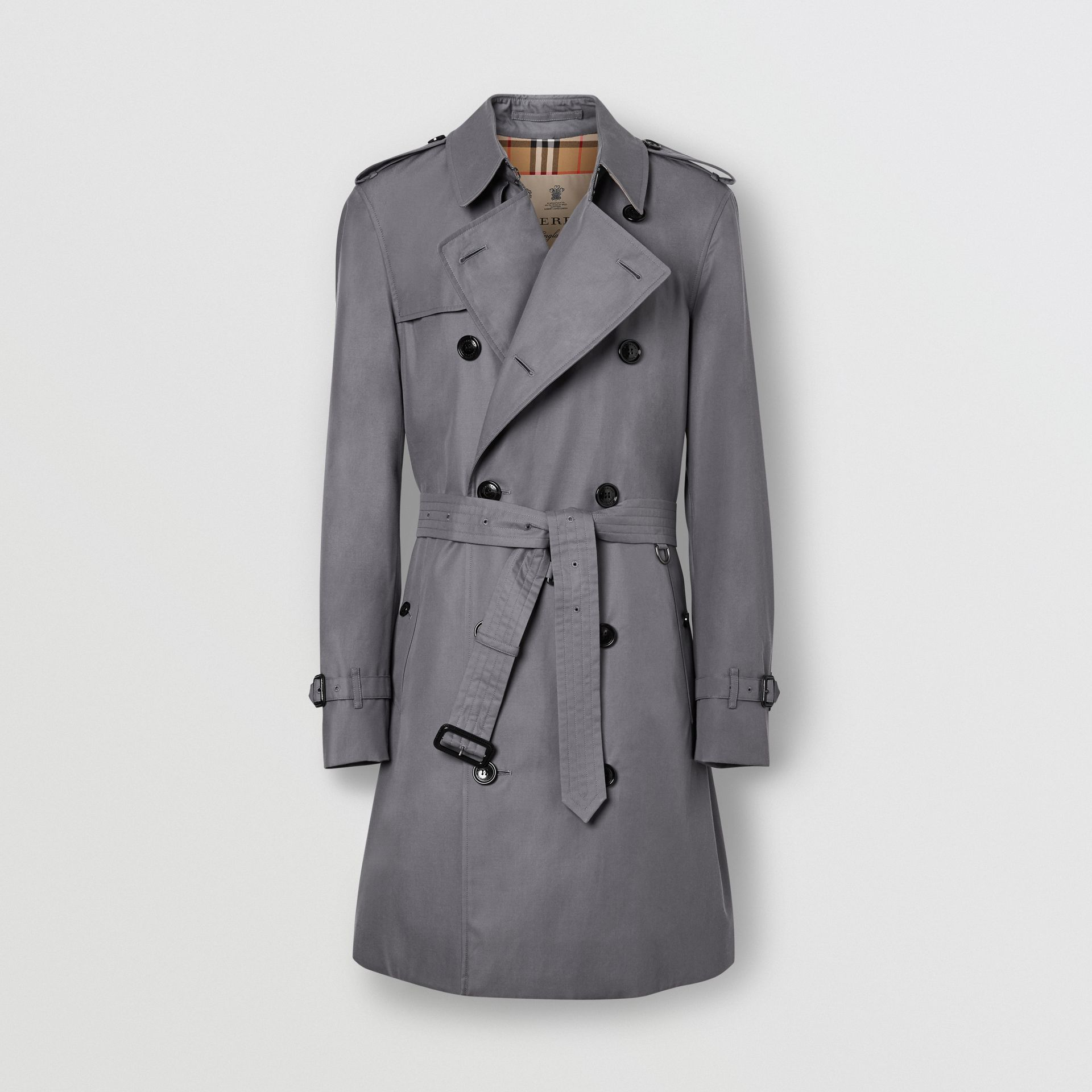 The Mid-length Chelsea Heritage Trench Coat in Grey - Men | Burberry Australia - gallery image 3