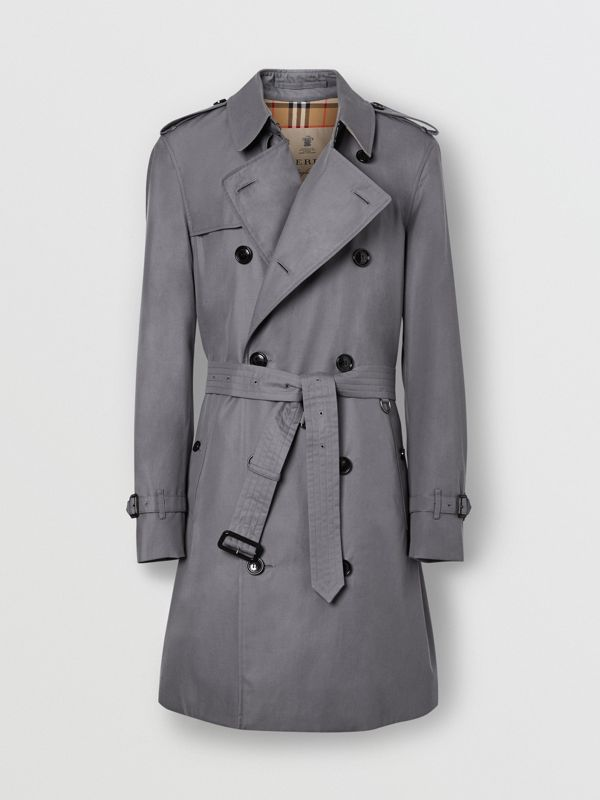 The Mid-length Chelsea Heritage Trench Coat in Grey - Men | Burberry Canada - cell image 3