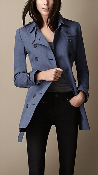 Short Polka Dot Undercollar Trench Coat