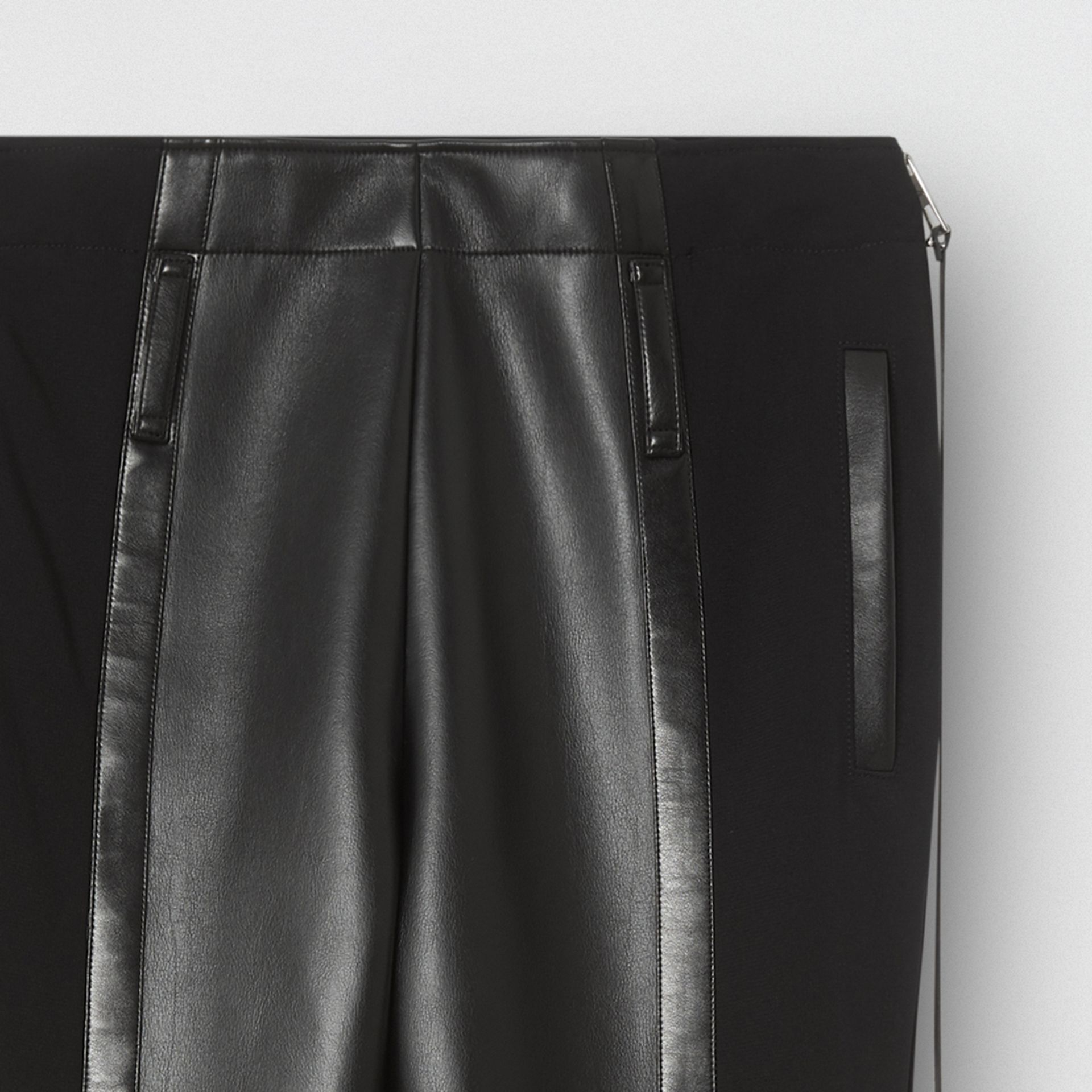 Zip Detail Stretch Crepe Jersey Leggings | Burberry United Kingdom - gallery image 2