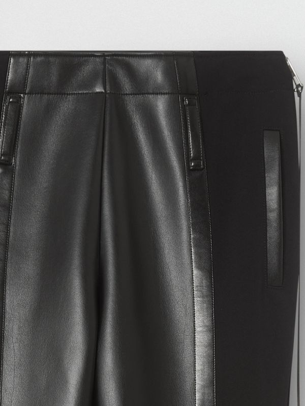 Zip Detail Stretch Crepe Jersey Leggings | Burberry United Kingdom - cell image 2