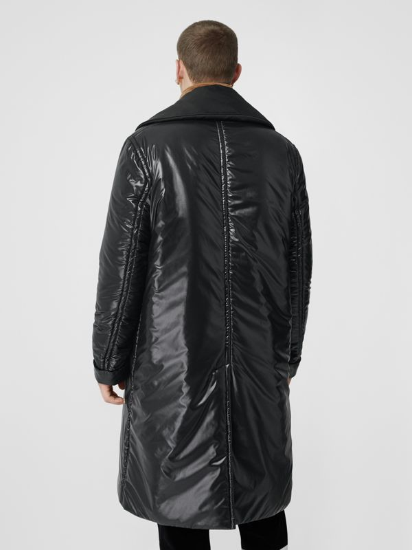 Detachable Funnel Neck Padded Nylon Car Coat in Black - Men | Burberry United Kingdom - cell image 2