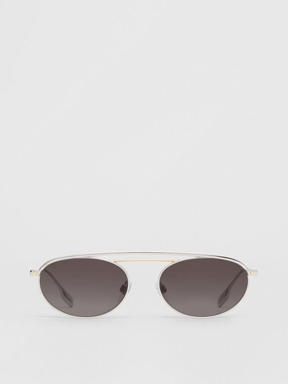 Oval Frame Sunglasses in Grey