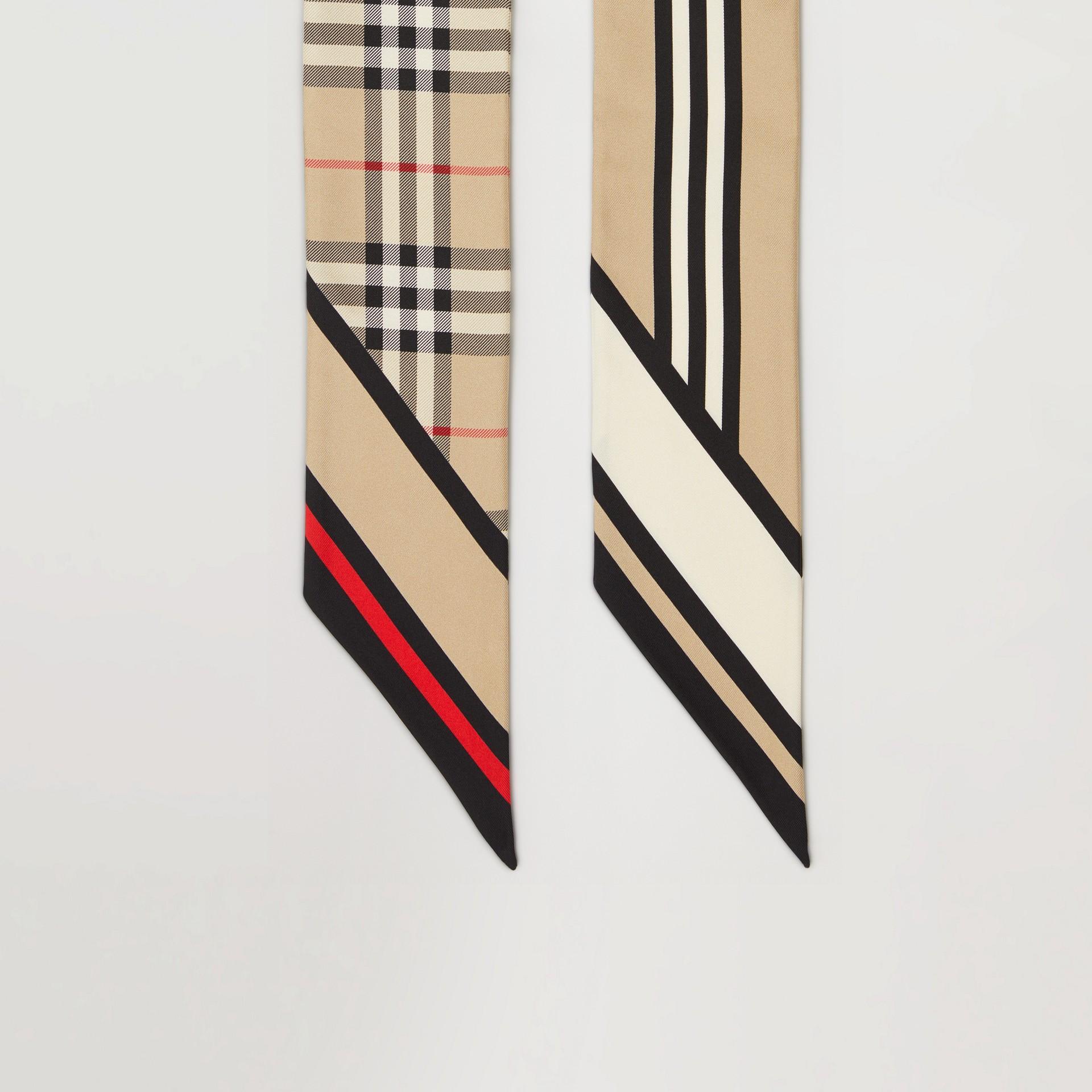 Schmaler Seidenschal mit Druckmotiven (Vintage-beige) | Burberry - Galerie-Bild 4