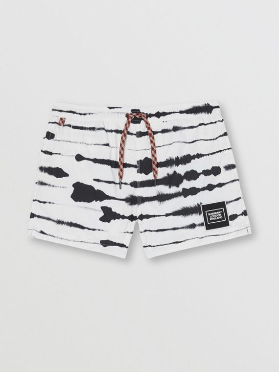 Watercolour Print Drawcord Swim Shorts