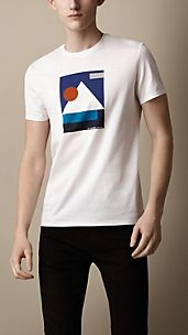 Abstract Print Cotton T-Shirt