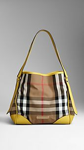 Small Bridle House Check Tote Bag