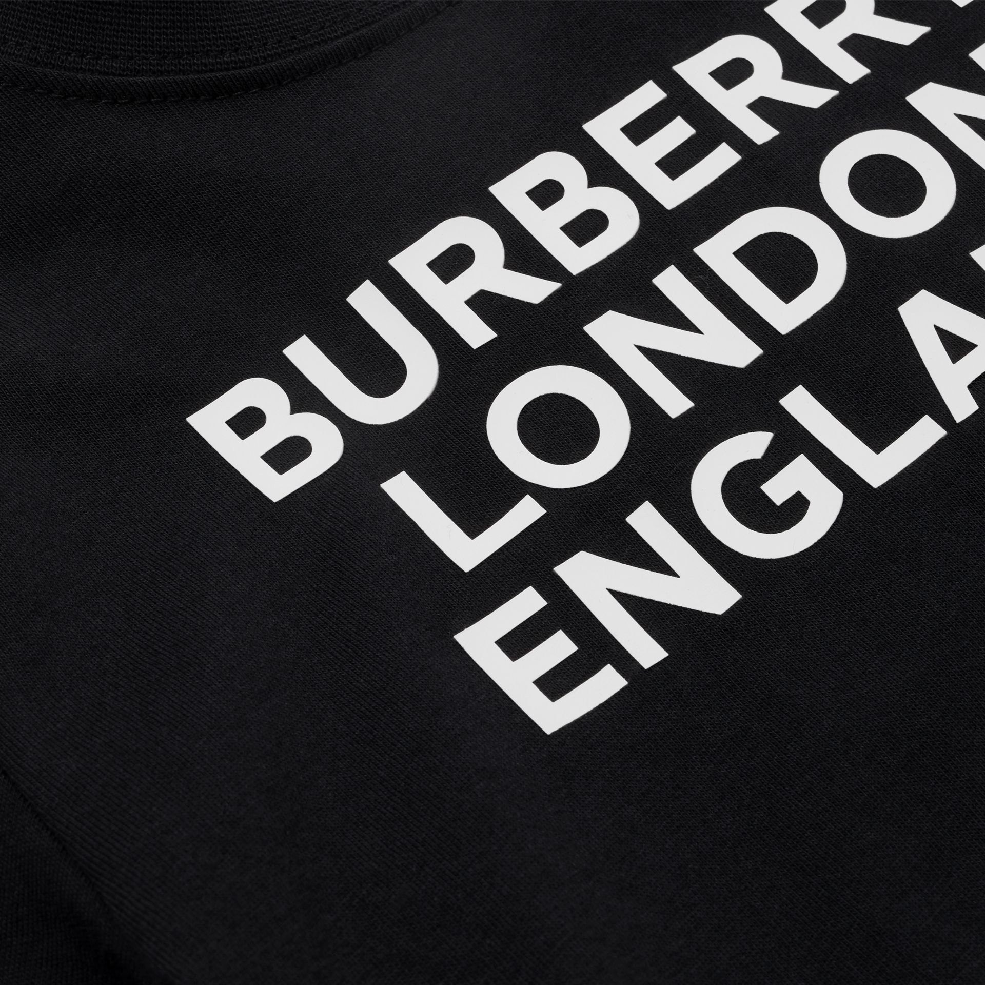 Logo Print Cotton T-shirt in Black - Children | Burberry - gallery image 1