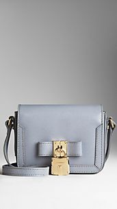 Lock Detail London Leather Crossbody Bag