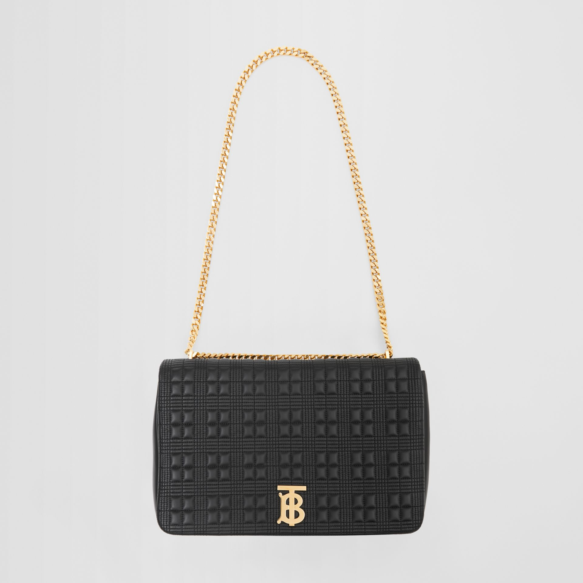 Extra Large Quilted Lambskin Lola Bag in Black - Women | Burberry Australia - gallery image 3