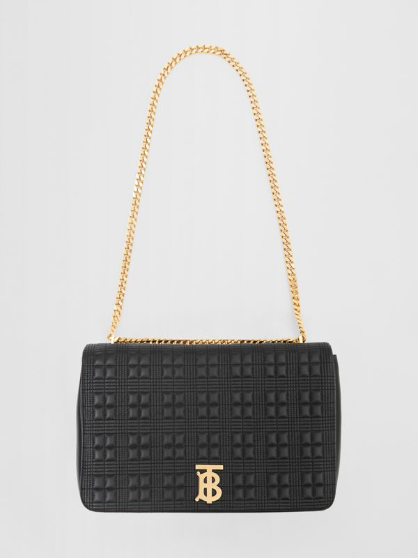 Extra Large Quilted Lambskin Lola Bag in Black - Women | Burberry - cell image 3