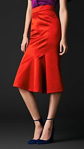 Godet Detail Pencil Skirt