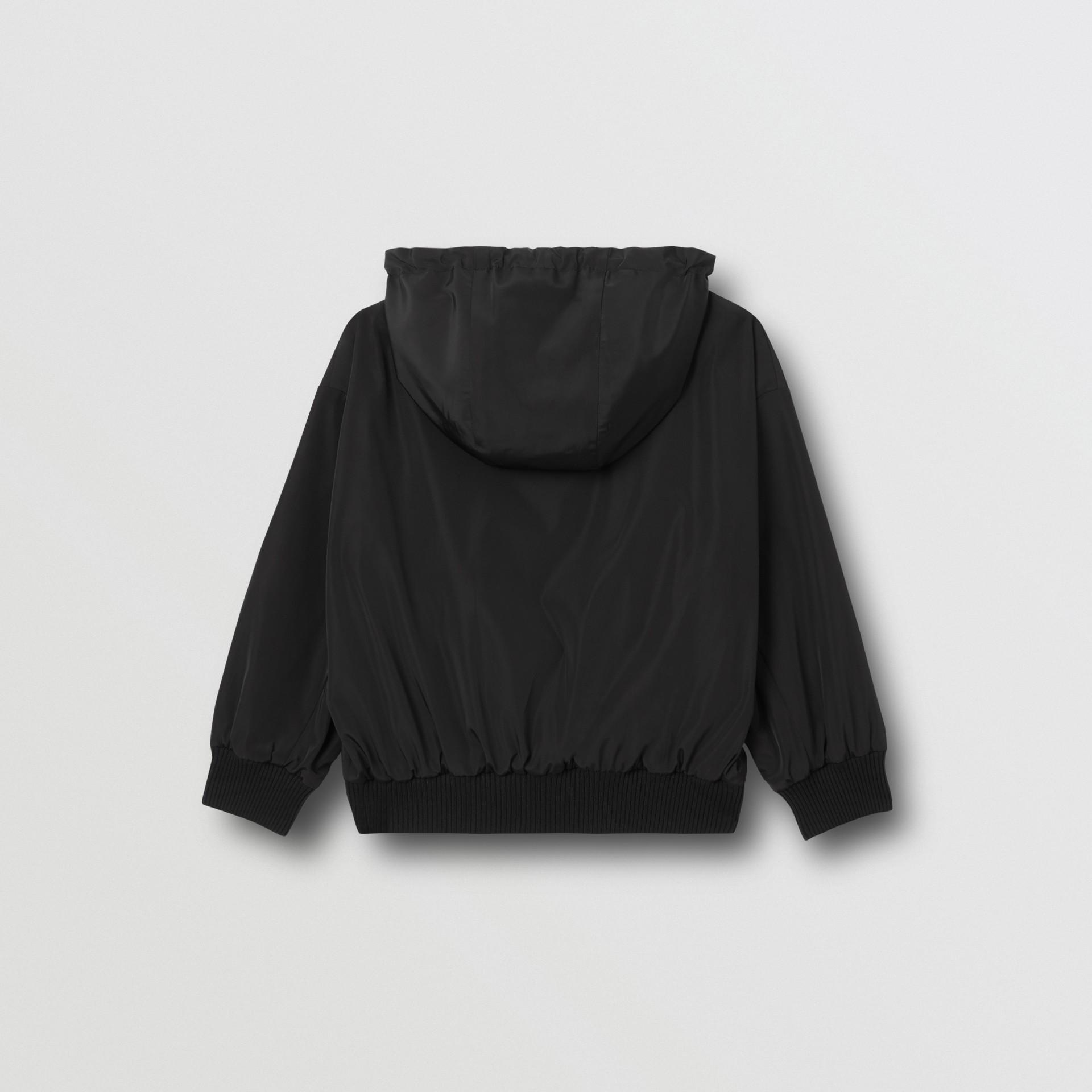 Chaqueta reversible a rayas Icon Stripe con capucha (Negro) | Burberry - imagen de la galería 6